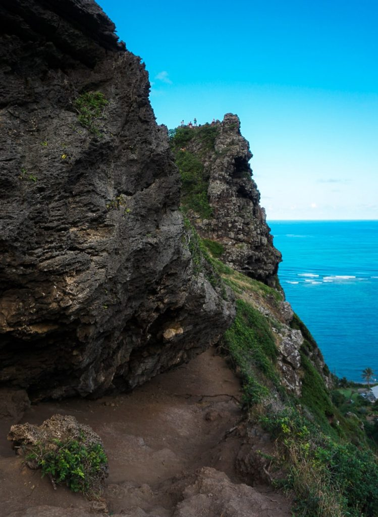 View of the cliffs on the Crouching Lion trail