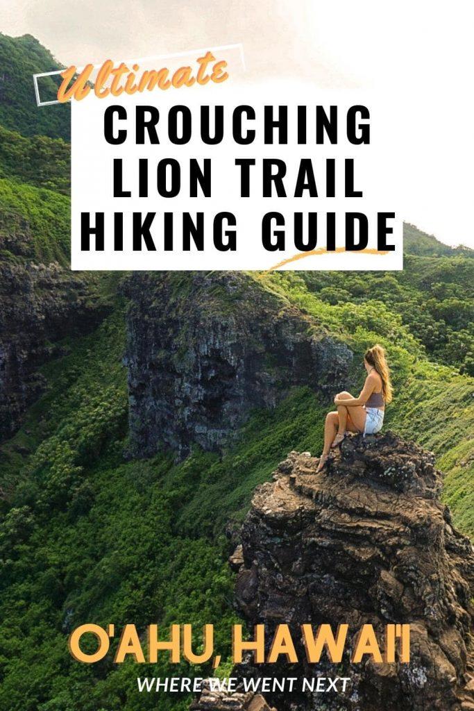 Crouching Lion Trail Hiking Guide Pinterest Pin