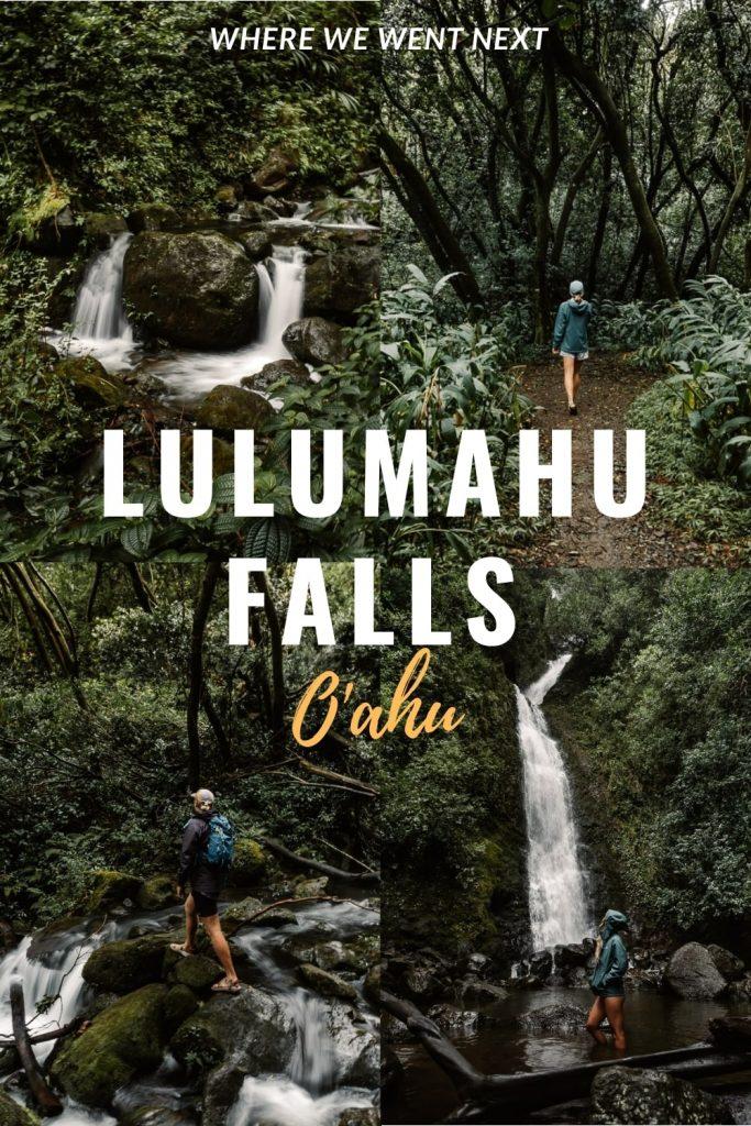 Lulumahu Falls Pinterest Image