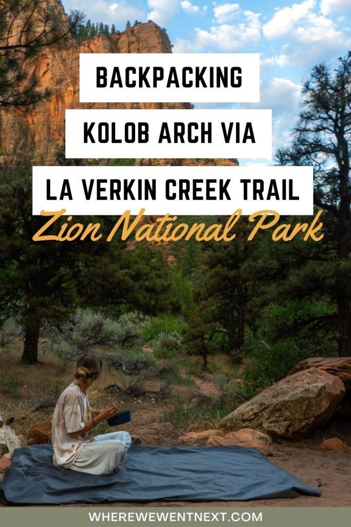 Kolob Arch via La Verkin Creek Trail Pinterest Pin