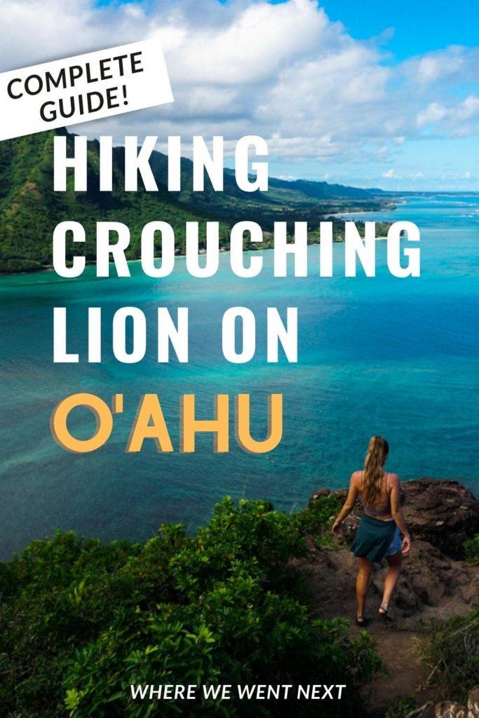 Hiking Crouching Lion on Oahu Pinterest Pin