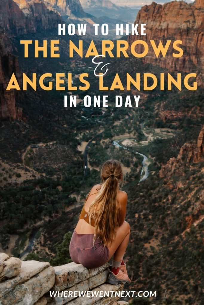 How to Hike Angels Landing and The Narrows in One Day Pinterest Pin