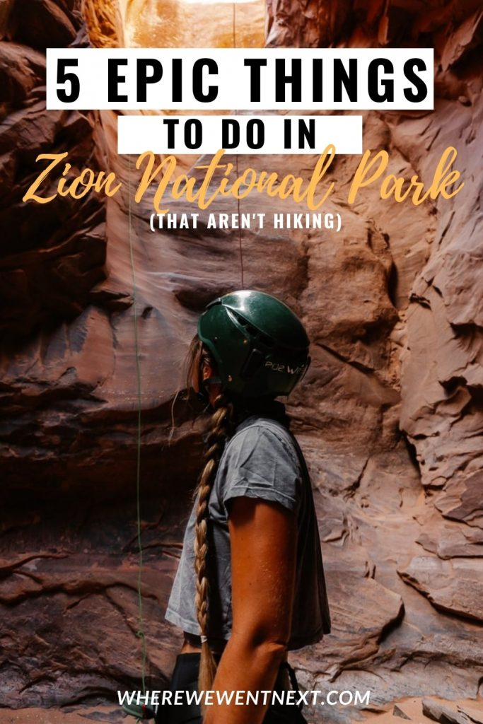 Epic Things to Do in Zion National Park Pinterest Pin