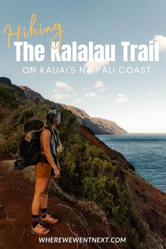 Backpacking the Kalalau Trail Pinterest Image