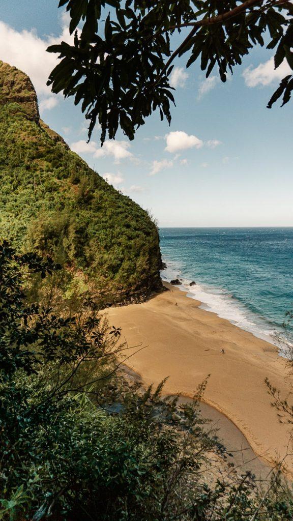 Hanakapia'ai beach from above