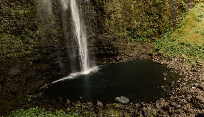 Ariel view of Hanakapi'ai Falls