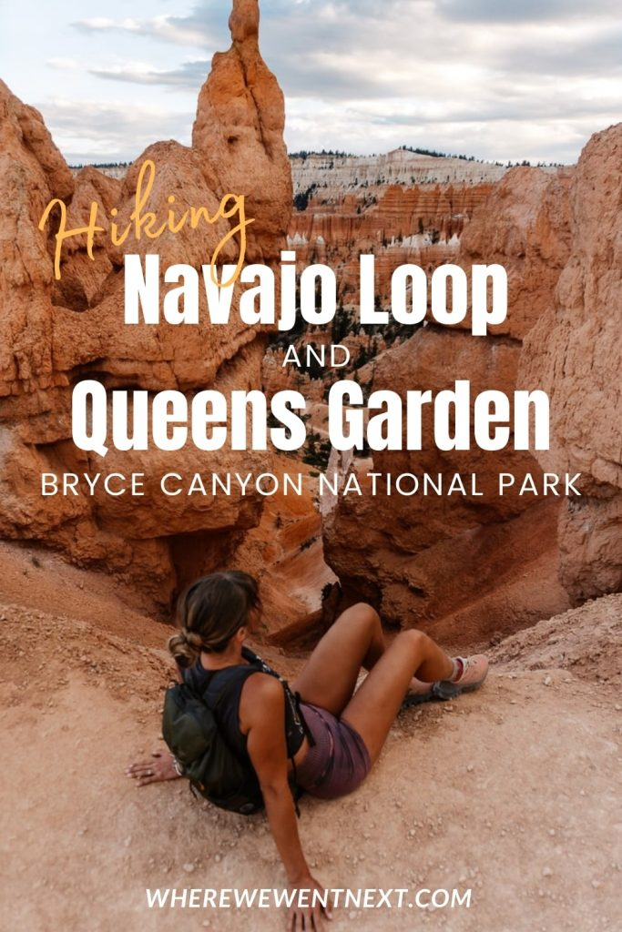 Girl sitting in front of Bryce Canyon Amphitheater with text overlay